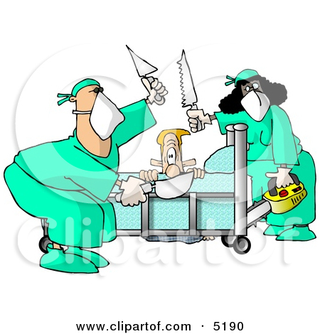 patient-getting-some-of-his-limbs-amputated-by-doctors-at-a-hospital-zpfxhl-clipart