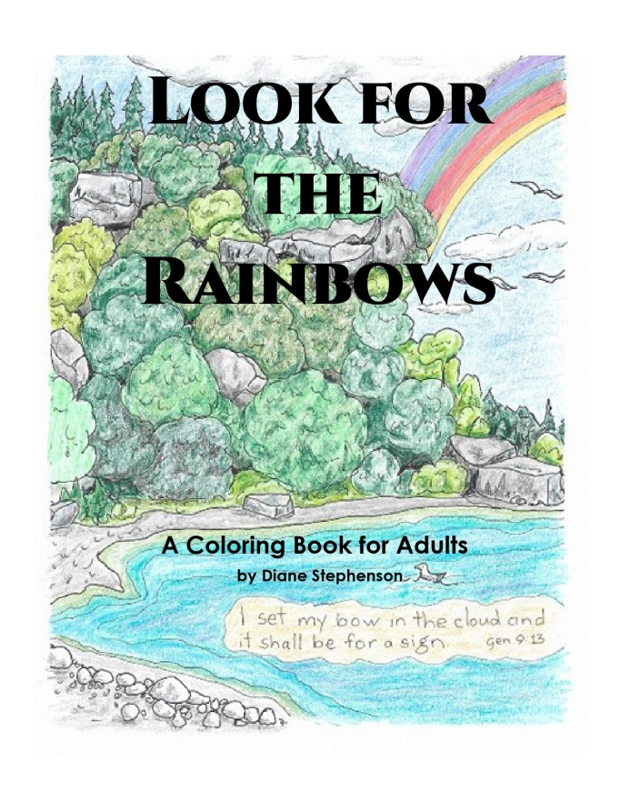 Look for the Rainbows A coloring Book for Adults Front Cover_page-0001